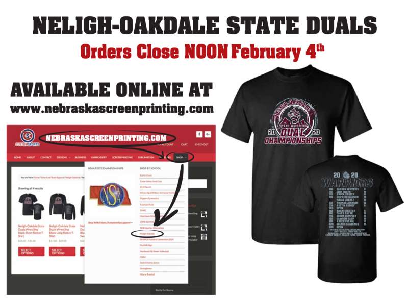State Wrestling Dual T-Shirt Order form